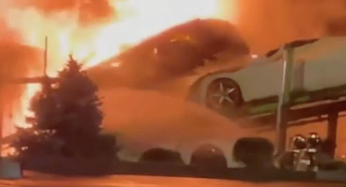 Corvette C8 pożar