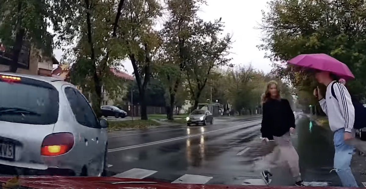 Peugeot 206 potrącenie