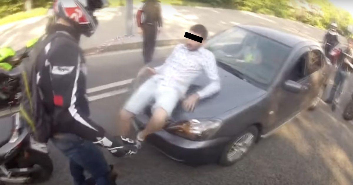 motocykliści agresja