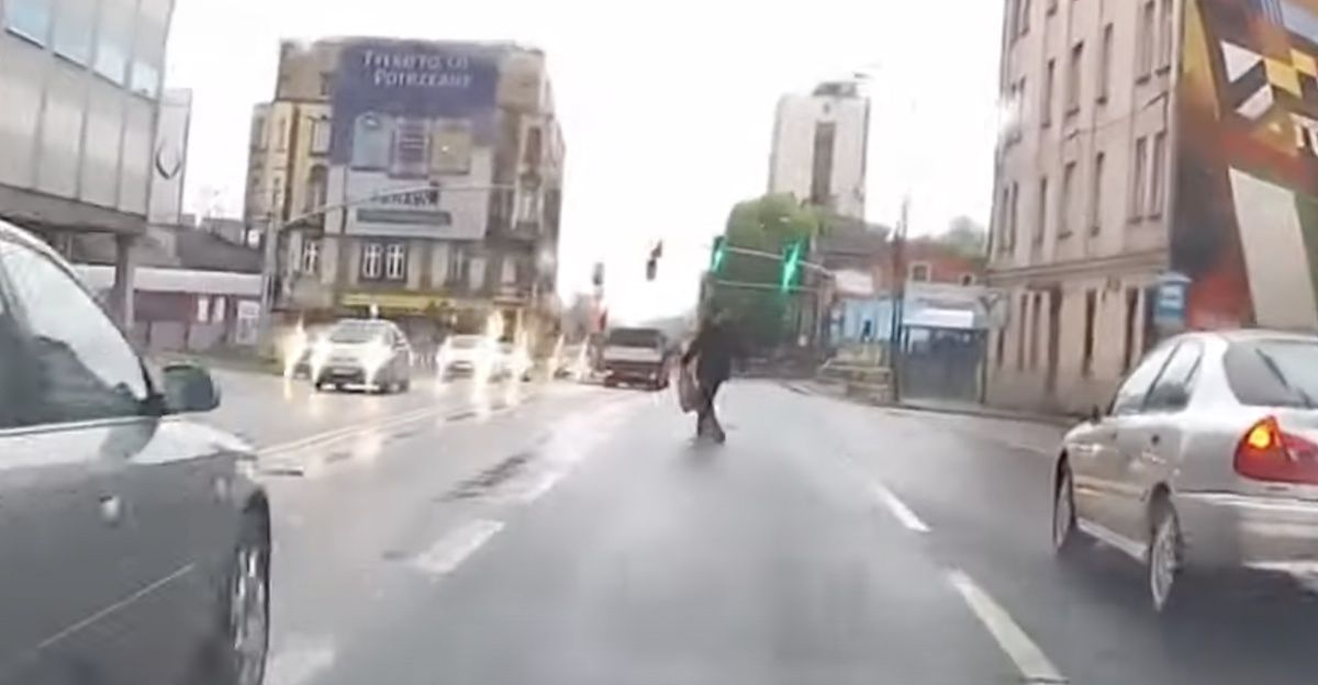 przejście przez jezdnię